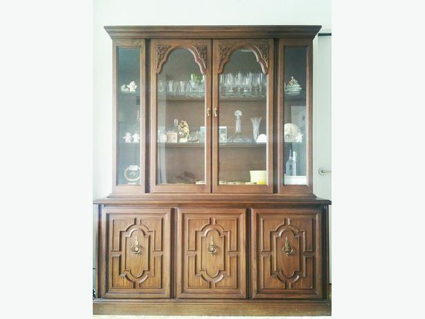 Beautiful glass windowed display cabinet and hutch - $110