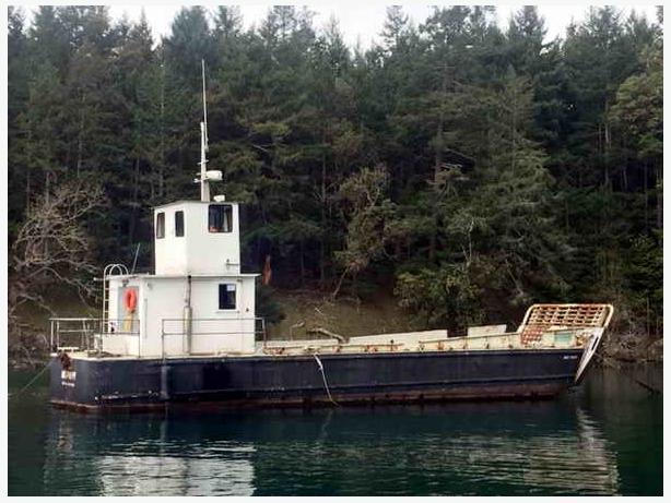 1969 Grafton Boat Works/US Navy Barge/Landing Craft - Mud Puppy