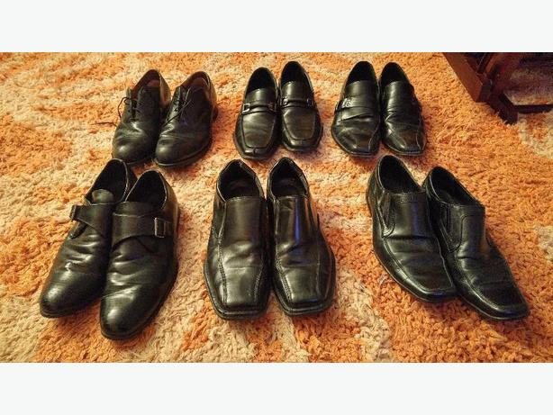 6 pair of mens business shoes