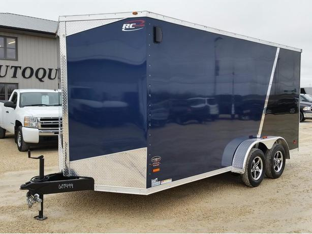 "2017 RC Trailers 7 x 16 x 84"" High V-Nose Enclosed Cargo Trailer"