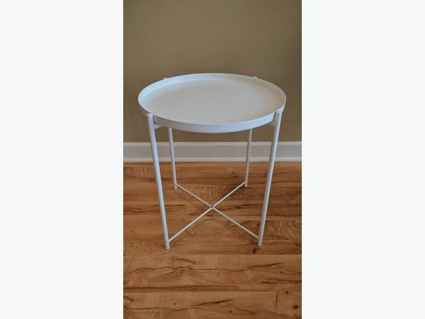 New Ikea Gladom Tray Table White West Shore Langford