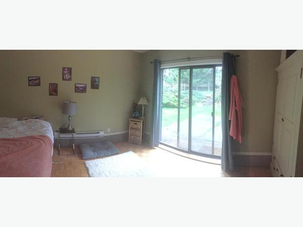 Bright, ground-level, one bedroom suite