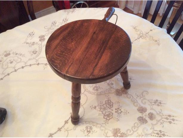 Antique 3 legged milking stool