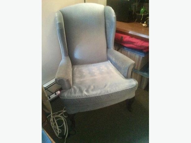 Wing-back arm chair