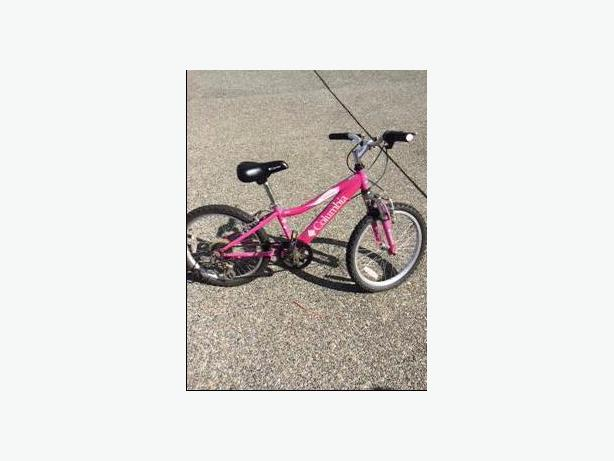 Pink Colulmbia Mountain Bike