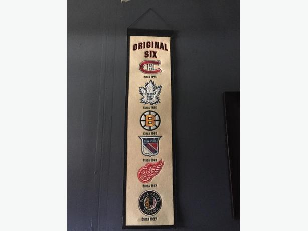 Original Six Stitched Hockey Banner