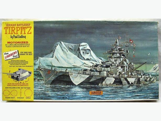 Vintage Lindberg TIRPITZ motorized kit - 350 scale