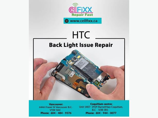 HTC One M7 Back Light Issue Repair in Firm Discounted price in Town