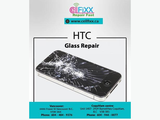 HTC One M10 Glass Repair in Stable Discounted Price in Town