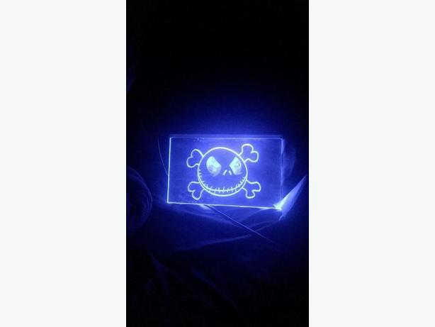 LED Jack Skellington light up sign
