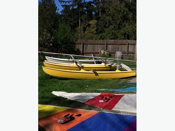 14 Ft Hobie Cat Catamaran for Sale (Cobble Hill, BC)