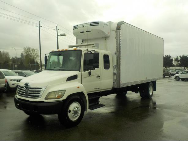2009 Hino 338 Extra Cab 5 Passenger 23 Foot Cube Van With Reefer Diesel