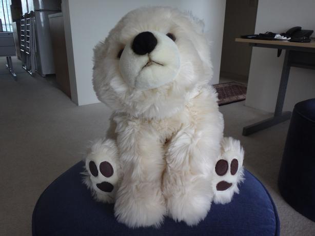 Stuffed Polar Bear Toy Like New