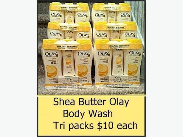 Olay Tri Packs $10 each, Singles $3 each, Ponds $3 each