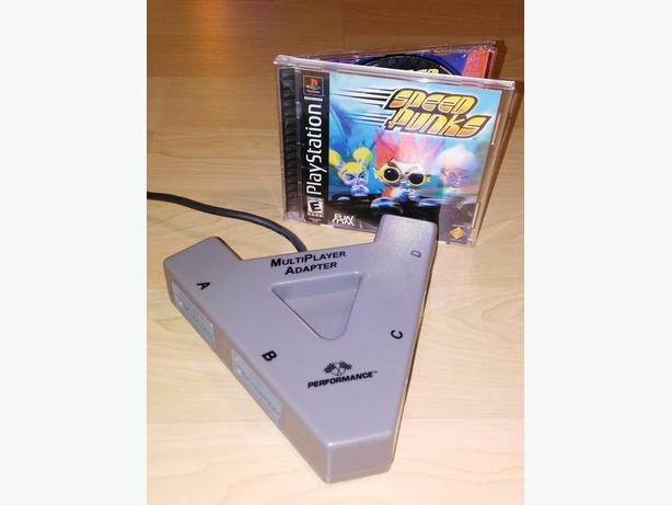 Speed Punks With 4 Player Adapter For The Original Playstation