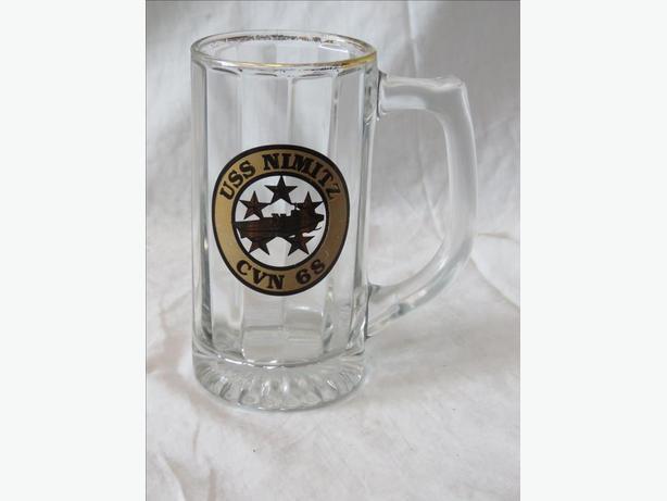 USS Nimitz Vintage  Glass Mug