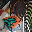 Fun colourful sturdy chairs
