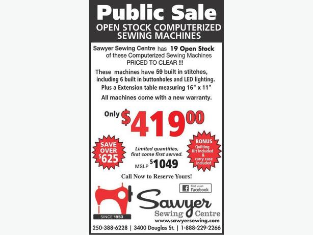 Open Stock Janome Sewing Machines   ( 19 Avail as of April 27 )