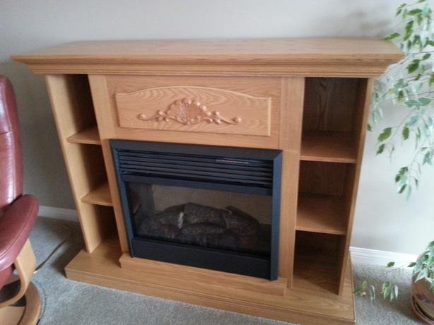 Dimplex Electric Oak Bookcase Fireplace $260 - Salmon Arm