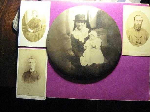 rare tin photograph
