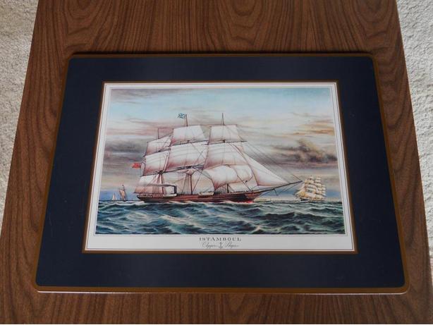 Pumpernel Cork Clipper Ships Placemats.