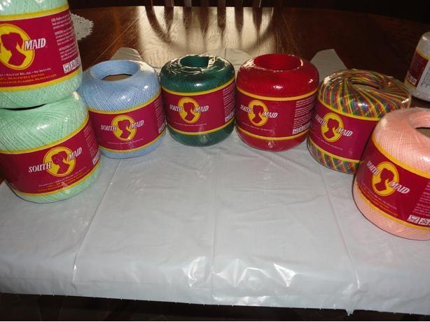 Seven New Balls Of South Maid Crochet Cotton East Regina Regina