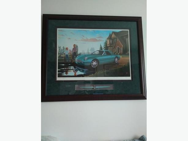 "2002 Thunderbird ""A Model of Inspiration""  framed print"