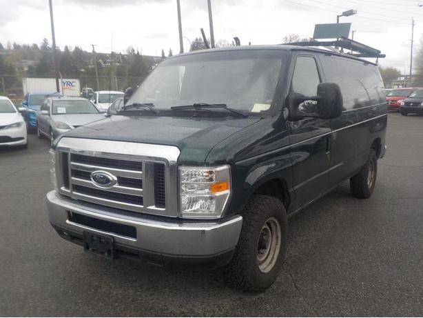 2009 Ford E-350 Cargo Van with Rear Shelving and Bulkhead Divider