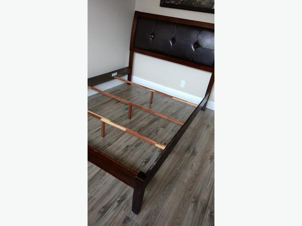 Queensize bed frame with headboard