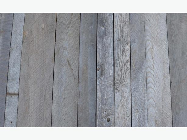 Reclaimed weathered grey lumber