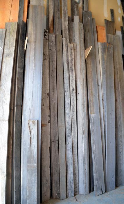 Reclaimed weathered grey lumber veneer outside seattle for Reclaimed wood flooring seattle
