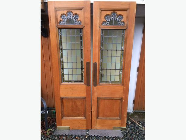 Vintage Stained Glass Doors Sooke Victoria