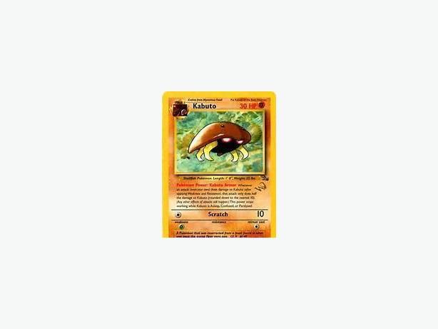 golden w stamped kabuto pokemon card