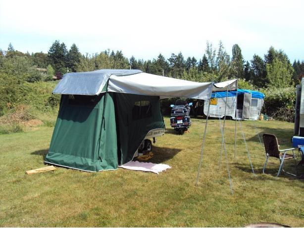Lees Ure Lite Popup Motorcycle Car Tent Trailer Parksville