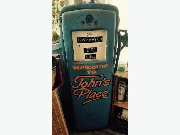 $123 · Beautiful Vintage 50's Gilbarco Gas pump - Johns Place Victoria  Ephemera!