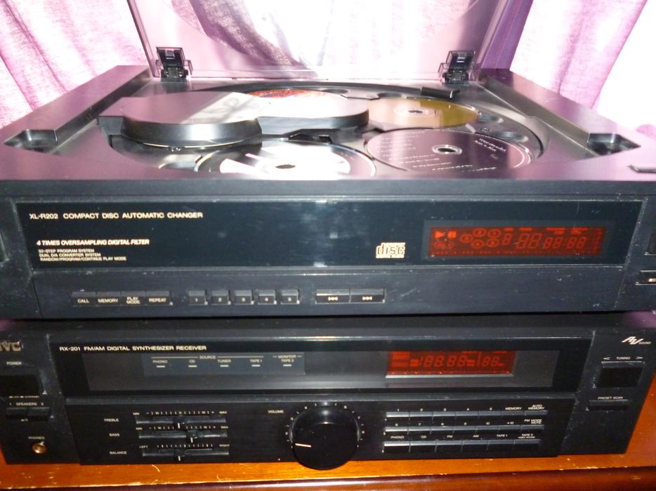 Stereo System JVC Receiver with Phono JVC CD Player Fisher Speakers Central Ottawa (inside ...