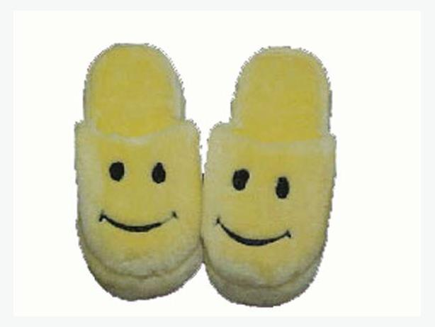 New Plush Yellow Emoji Smiley Face Slippers - $25