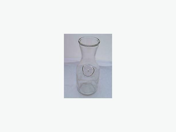 Clear Glass Carafe / Decanter ,two