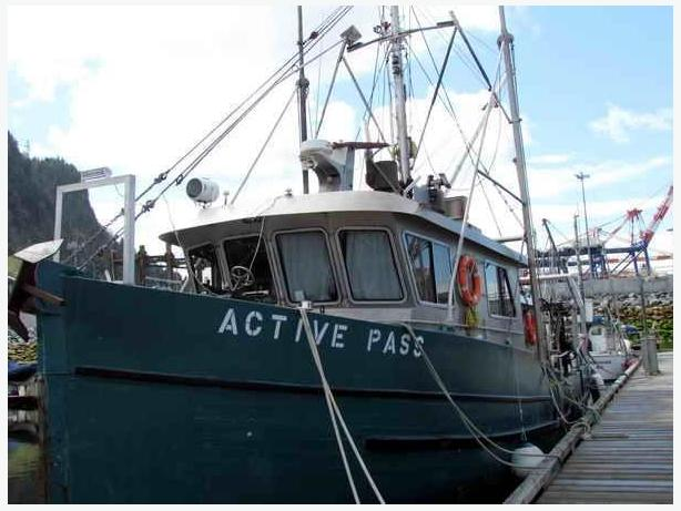 Research Vessel Fishing Boat Conversion For Sale - Active Pass