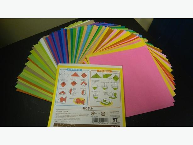 BrandNew110SheetsOfVarious Solid Color Origami Paper Size15cmx15cm MadeInJapan