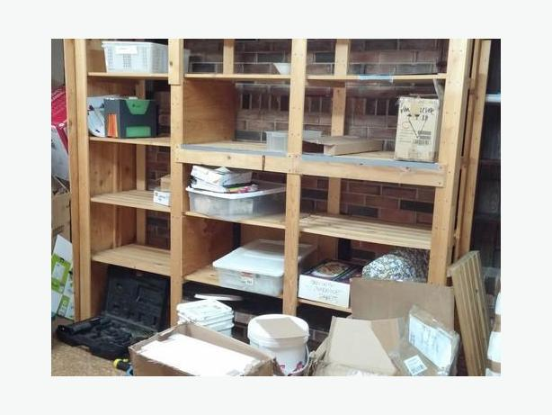 FREE:  wooden shelving