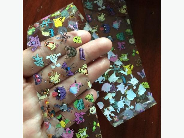 9 New Pokemon Nail Art Decals Sets -  $6 each set