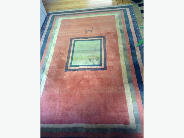 Rare Pattern, Hand Knotted, Wool Persian Rug