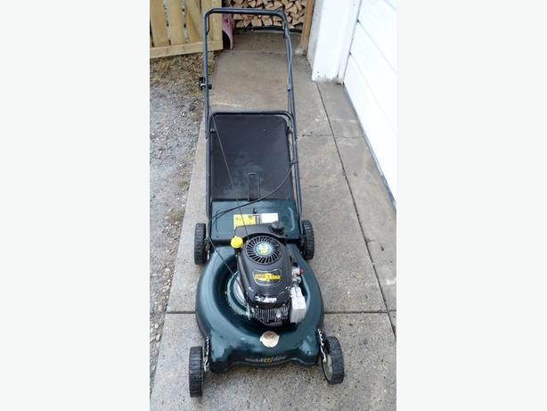 YARD WORKS REAR BAG GAS LAWNMOWER