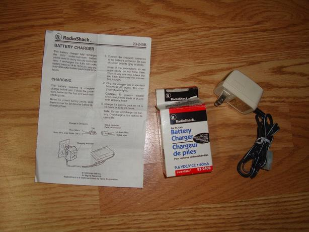New Radio Shack 9.6V RC Car Battery Pack Charger AC Adapter 23-240 B  - $10