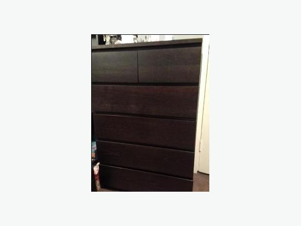 Ikea Malm black-brown dresser