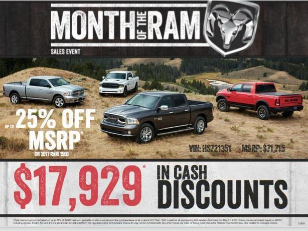 2017 RAM 1500 - 25% off