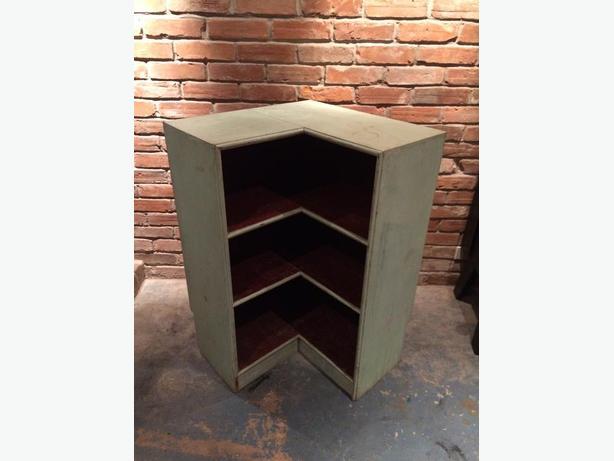 Antique Corner Shelf Unit