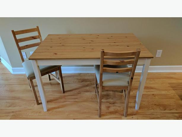 Like New Ikea Lerhamn Table And 2 Chairs West Shore
