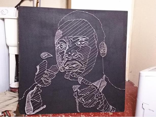 Handmade String And Nail Art Martin Luther King Junior Orleans Ottawa